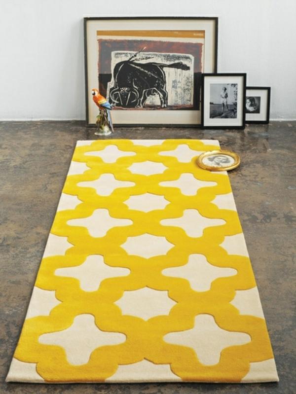 Teppich-in-Gelb-mit-Ornamenten-Idee