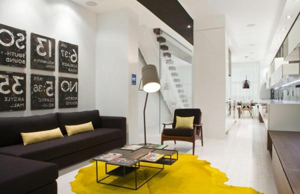 Teppich-in-Gelb-schönes-Design