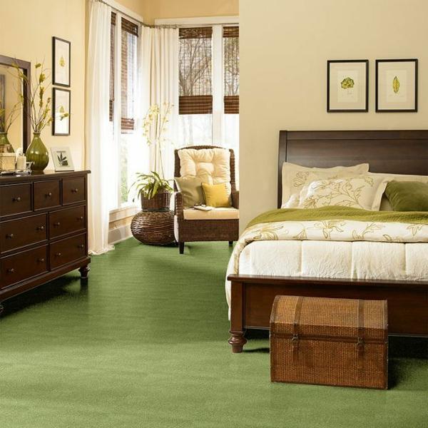 Teppich-in-Grün-im-Schlafzimmer