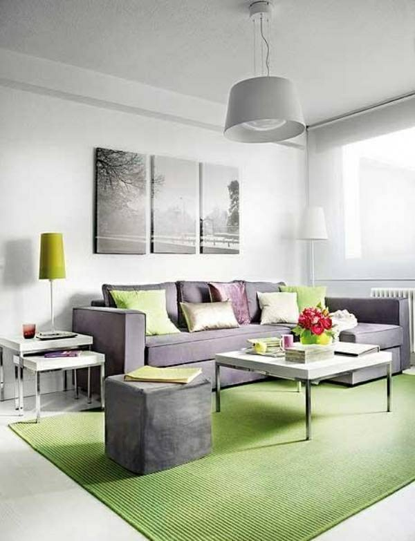 Teppich-in-grüner-Farbe-im-Wohnzimmer