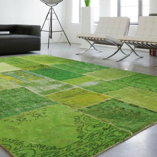 Teppich-in-grüner-Farbe