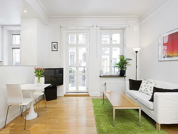 Teppiche-in-Grün-Schlafzimmer-Design