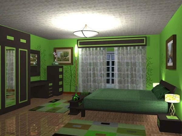 Teppiche-in-Grün-im-Schlafzimmer