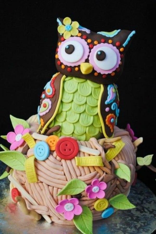 Torten-Dekorationen-Ideen-Eule