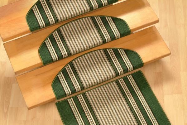 Treppenstufen-Teppiche-für-Zuhause-Grün