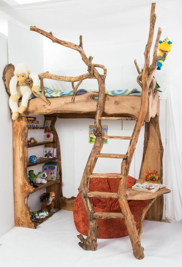 Ungewöhnliches-Kinderbett-aus-Holz-Ideen