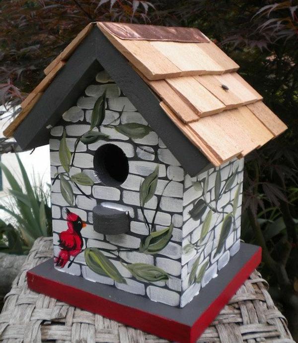 Vogel futterhaus bauen schöne vorschläge teil