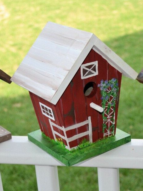 Vogel-Häuser-Design-Rot