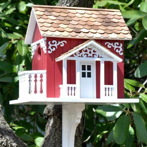 Vogel-Häuser-realistisches-Design-Idee