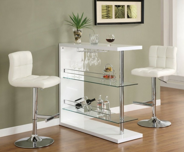 Weißer-Bartisch-Design-Glas