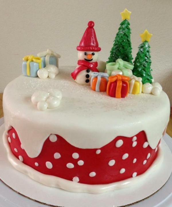 Weihnachtszeit-Torten-Ideen-für-Dekoration
