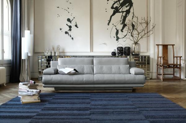 Wohnzimmergestaltung-Teppiche-in-Blau-Dunkelblau