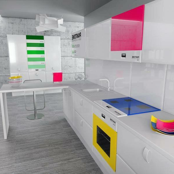 Wunderschöne-Küchengestaltung-mit-schönen-Farben-Design-Idee