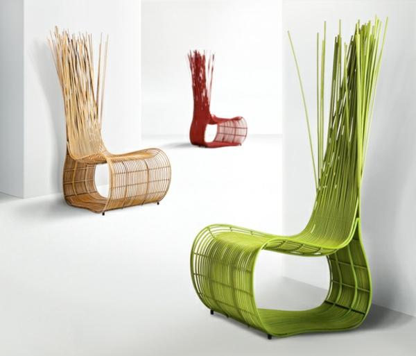 balkon-lounge-möbel-moderner-grüner-stuhl