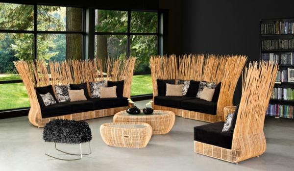 balkon-lounge-möbel-super-kreatives-sofa-design - schöne runde tische