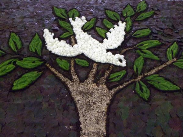 blumenteppich-für-fronleichnam-weiße-taube