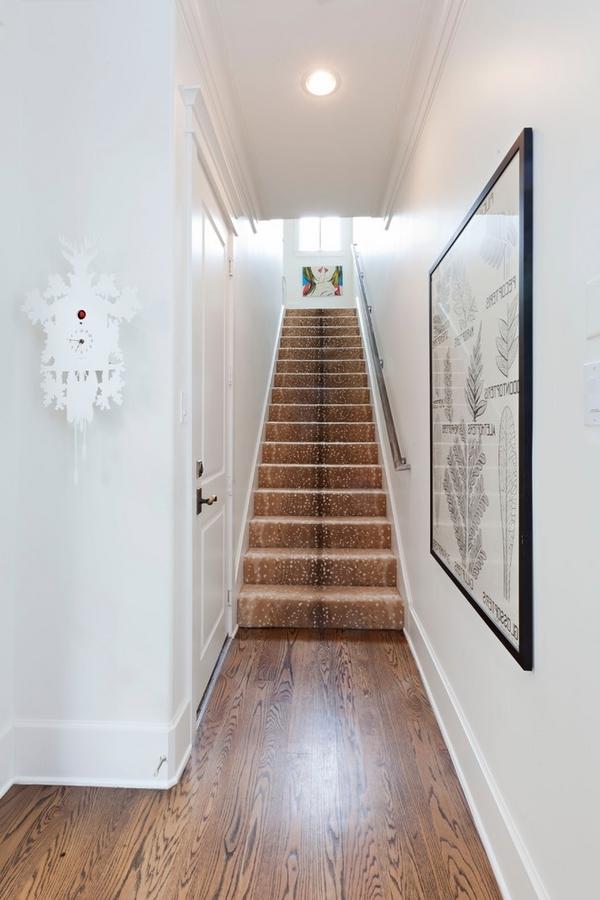 braune-treppenteppiche - großes bild an der wand