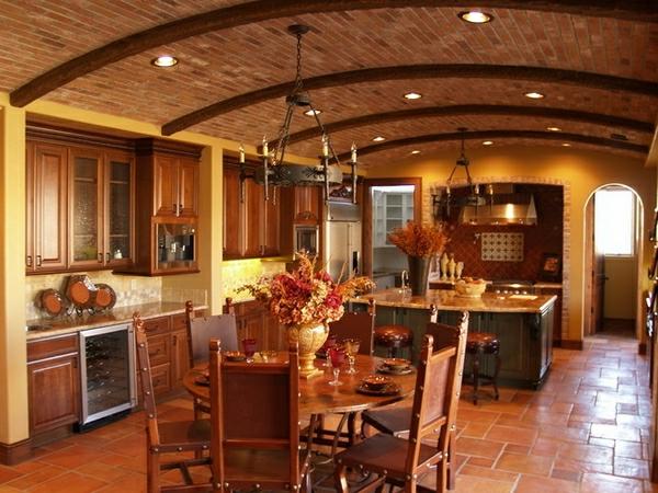 braunes-wohnzimmer-zimmerdecken-ideen