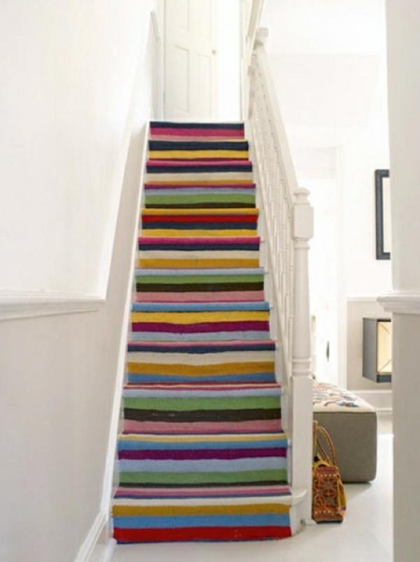 bunte-Teppiche-für-Treppe-Interior-Design