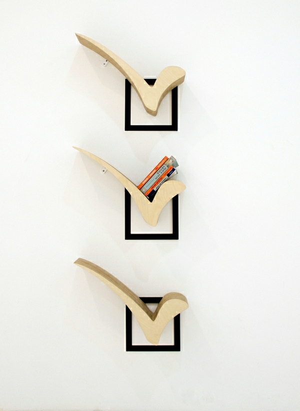 Check Bücherregal Design   Weiße Wand Dahinter