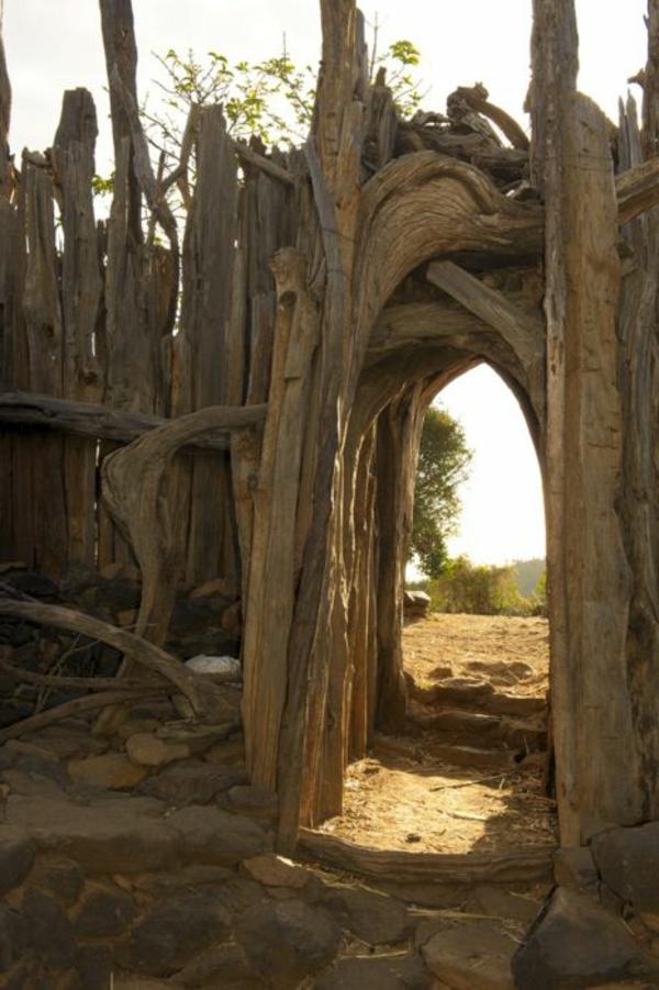 Rustikale Gartenzäune gartenzaun aus holz tolle ideen archzine