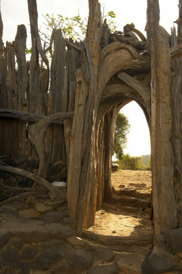 Gartenzaun aus Holz - tolle Ideen
