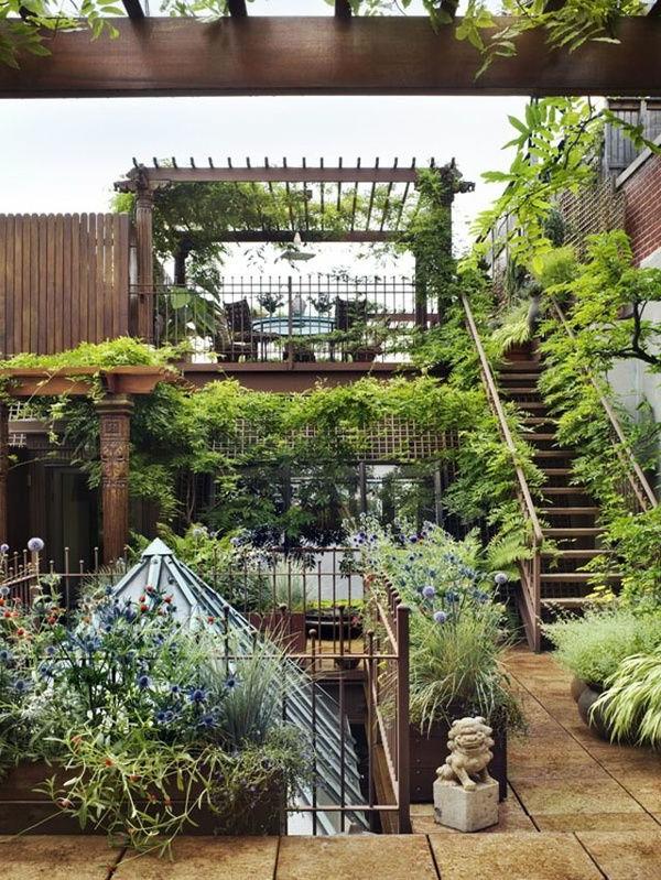 terrassengarten - wunderschöne gestaltungsideen! - archzine, Gartenarbeit ideen