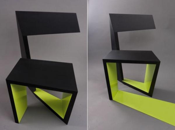 coole-designer-Stühle-schwarz-und-grün