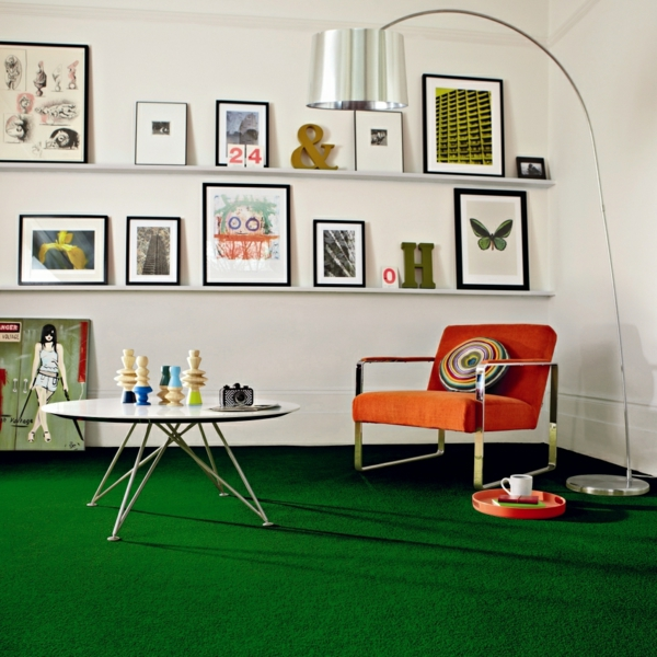 coole-grüne-Teppiche-Wohnzimmergestaltung