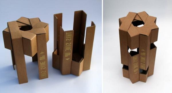 hocker aus pappe originelle vorschl ge. Black Bedroom Furniture Sets. Home Design Ideas