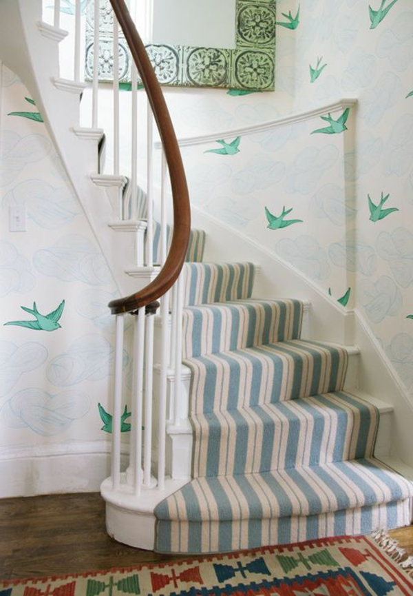 teppich blau wei gestreift haus deko ideen. Black Bedroom Furniture Sets. Home Design Ideas