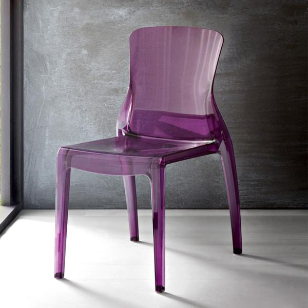 Stuhl in lila stilvoll und extragavant for Plastikstuhl design