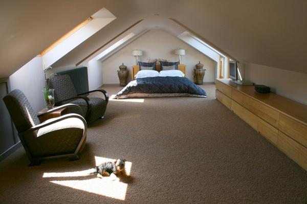 Schlafzimmer im dachgeschoss 25 coole designs - Dachgeschoss zimmer gestalten ...