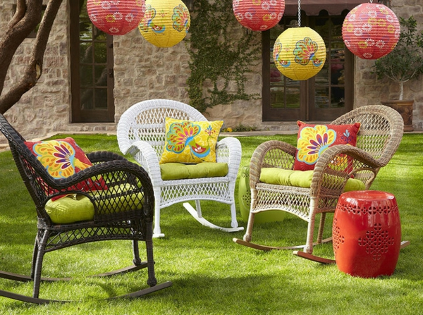 Wundersch ne bunte gartendeko for Deko outdoor