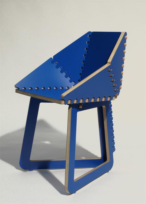 designer-Stuhl-in-Blau-Ideen