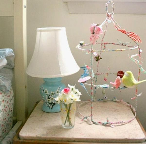 deko vogelkäfig - in bunten farben
