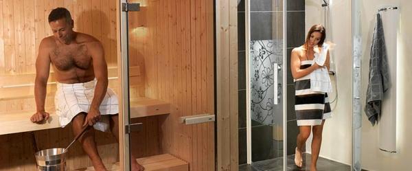 ein-mann-in-einersauna-mit-glasfront-und-eine-fraue-in-einer-duschkabine