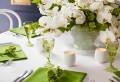 Frische Ideen für Tischdeko in Grün und Weiß!