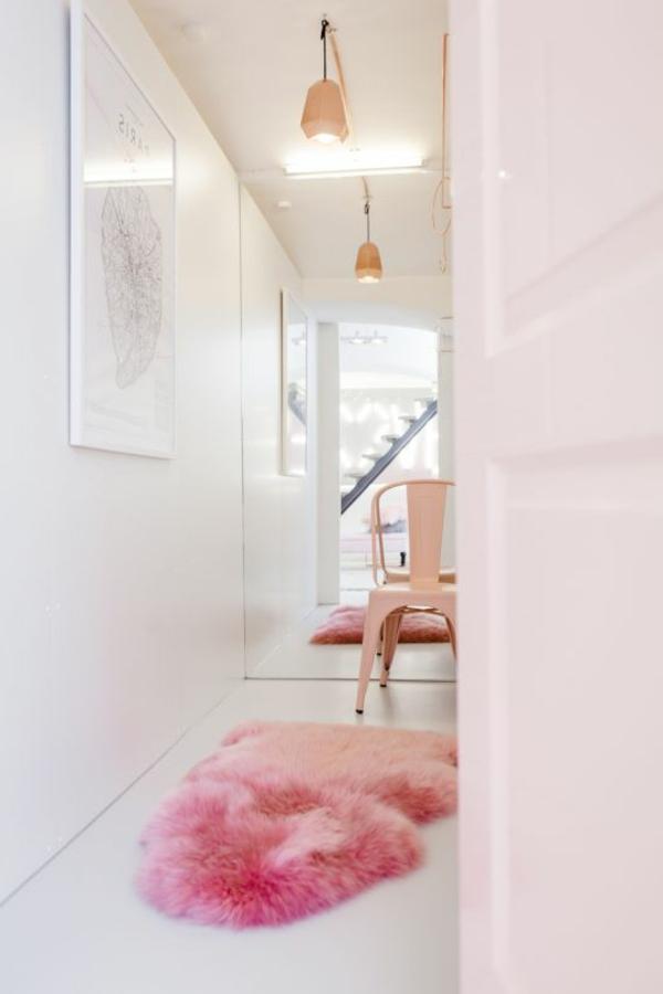 rosa wohnzimmer teppich:rosa Teppich im Flur