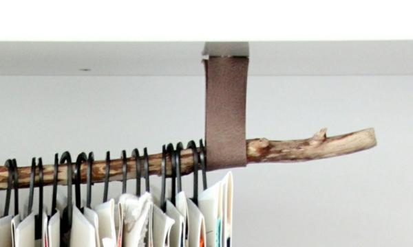 elegantes-design-von-kleiderstange-für-wand