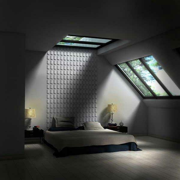 Elegantes Schlafzimmer Im Dachgeschoss Moderne Gestaltung