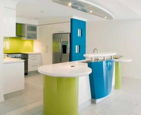 erstaunliche-Attraktive-Küchengestaltung-Grün-Blau-Weiß