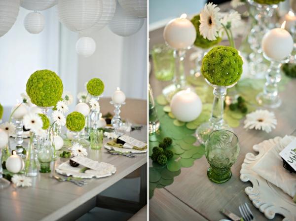 fantastische-Tischdekoration-in-grüner-und-weißer-Farbe-Deko-Idee