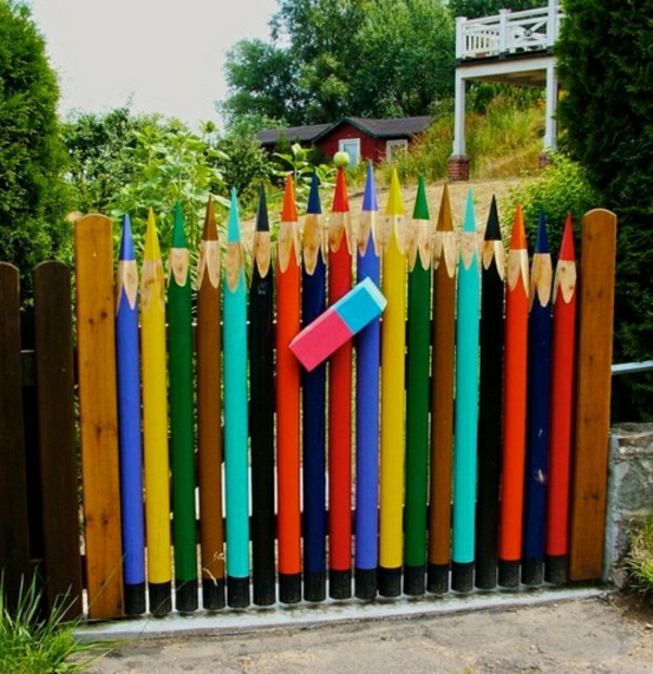Fence Art Painting