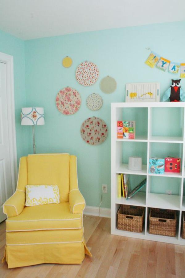 gelber stuhl - frische beispiele - archzine.net - Kinderzimmer Turkis Gelb