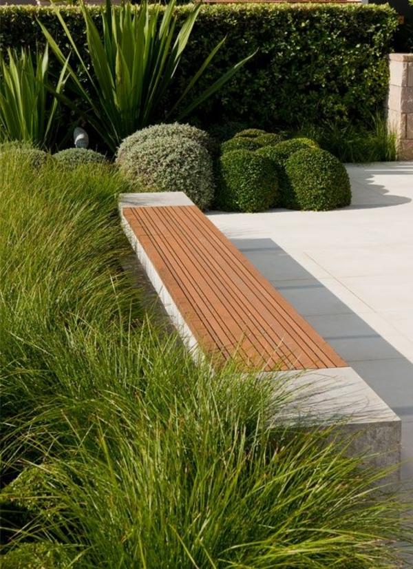 grüne-Gartenterrasse-Gras-Bank-