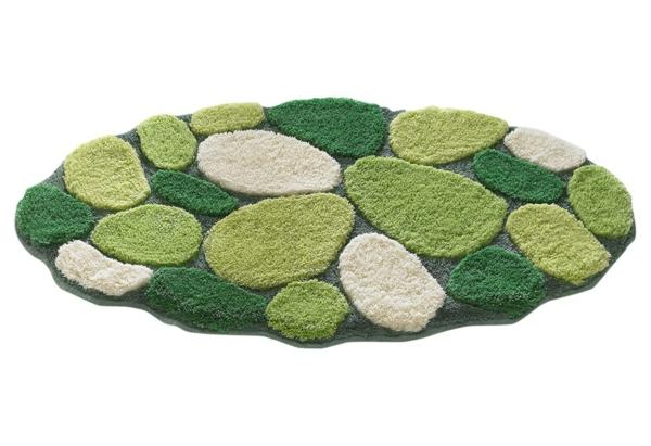 grüner-Badteppich-für-das-Badezimmer-tolle-Grüntöne