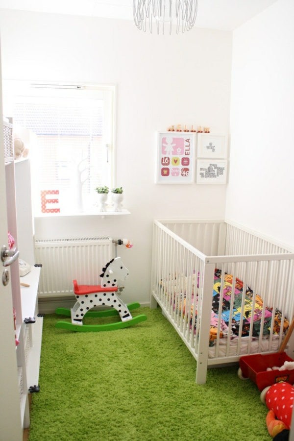 Gr ner teppich frische im hause - Teppich im babyzimmer ...