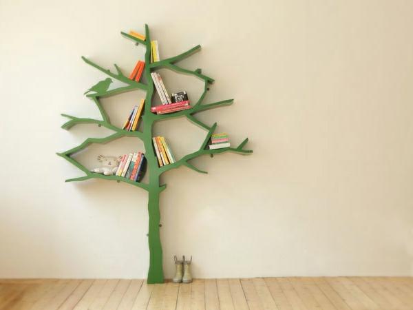 Kinder  Bücherregal  27 super schöne Modelle! ~ Bücherregal Baum