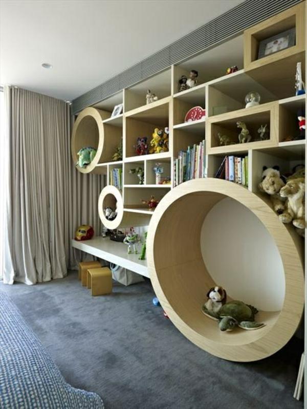großes-Kinder-Bücherregal-im-Kinderzimmer-Ideen